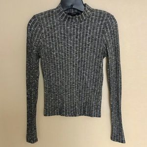 F21 knit charcoal turtle neck
